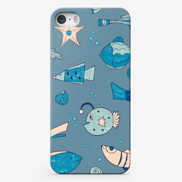 Чехол iPhone «рыбы, морской узор»