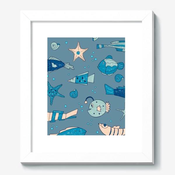 Картина «рыбы, морской узор»
