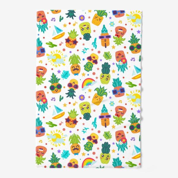 Полотенце «Веселые ананасы на вечеринке»