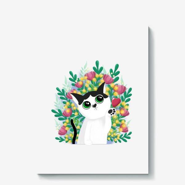 Холст «Леди Бу и цветы»