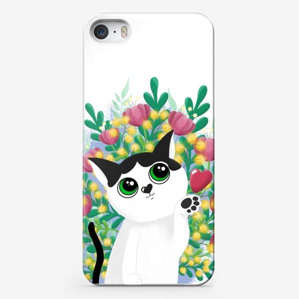 Чехол iPhone «Леди Бу и цветы»