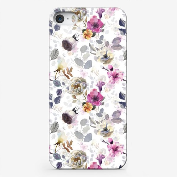 Чехол iPhone «White flowers»