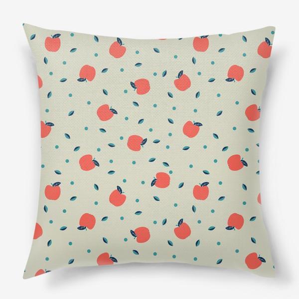 Подушка «Много красных яблочек»