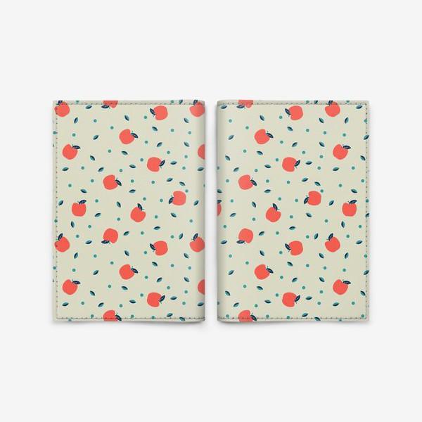 Обложка для паспорта «Много красных яблочек»