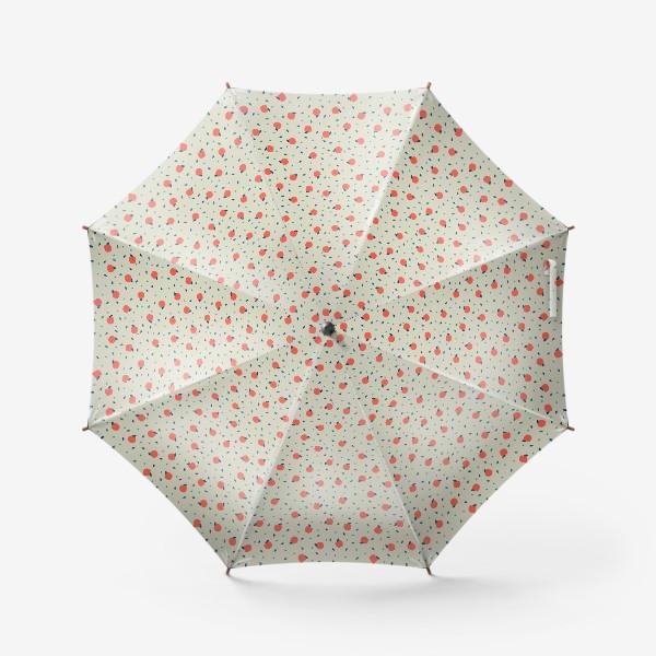 Зонт «Много красных яблочек»