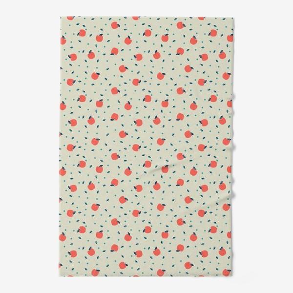 Полотенце «Много красных яблочек»