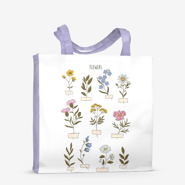 Сумка-шоппер «Полевые цветы»