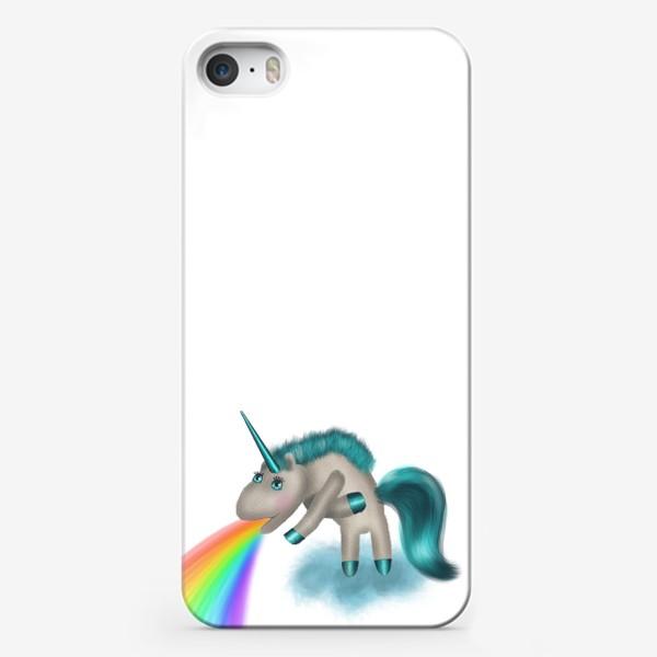 Чехол iPhone «Единорог, которому все надоело, его тошнит радугой»