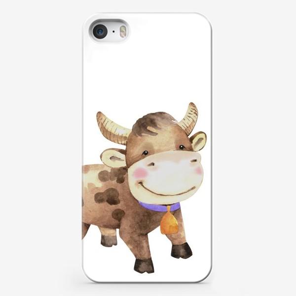 Чехол iPhone «милый малыш бык »