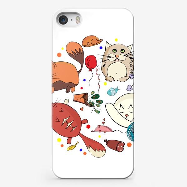 Чехол iPhone «смешные котики»