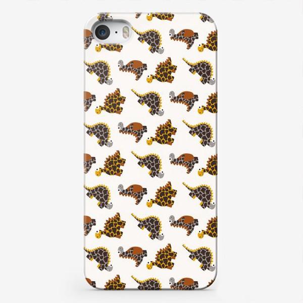 Чехол iPhone «Натуральные земляные динозавры»