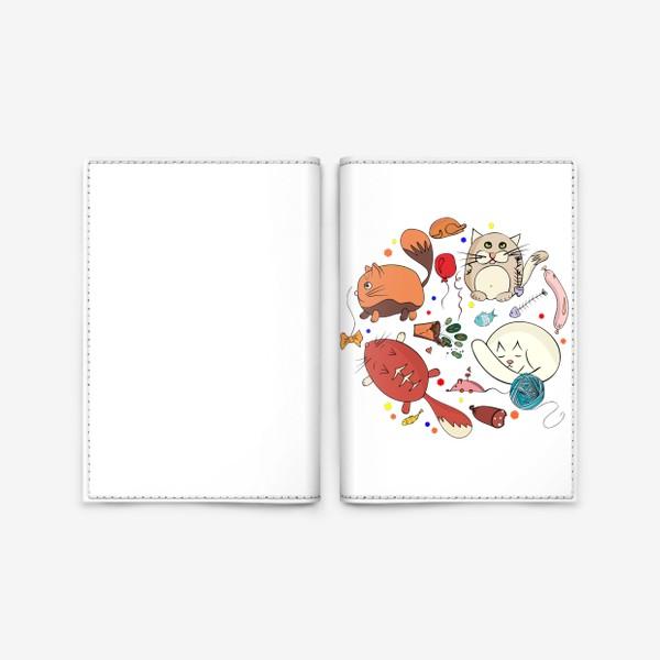 Обложка для паспорта «смешные котики»