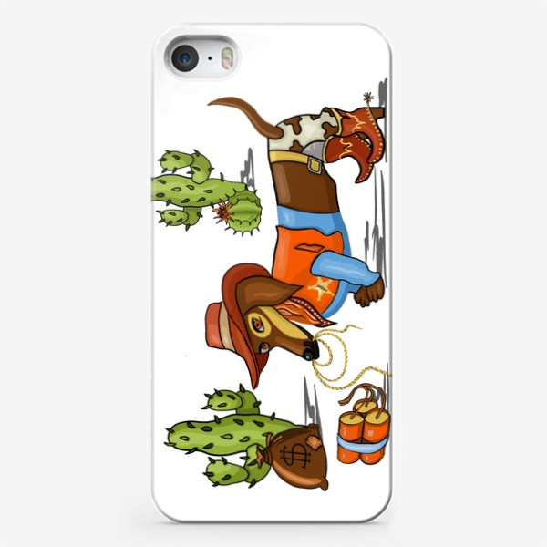 Чехол iPhone «Такса - шериф, такса - ковбой»