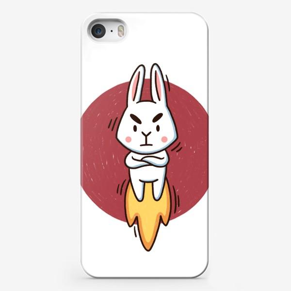 Чехол iPhone «Недовольный зайчик и многозадачность. Дедлайн. Сроки горят»