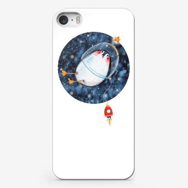 Чехол iPhone «Пингвин космонавт»