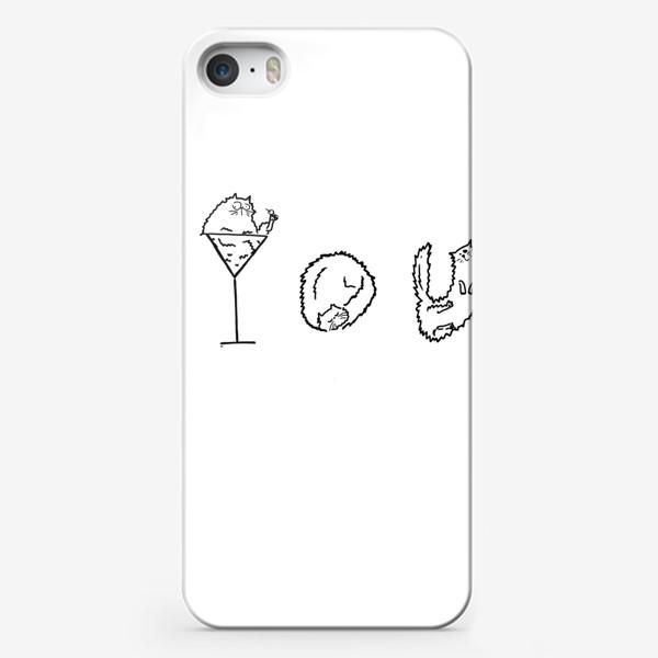 Чехол iPhone «You. Ты. Коктейльные коты. Летнее настроение »