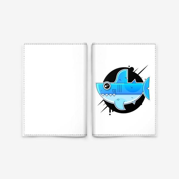 Обложка для паспорта «Vector illustration of shark »