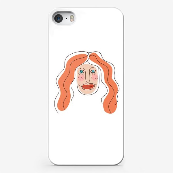 Чехол iPhone «Портрет рыжеволосой девушки.  Симпатичная рыженькая девчонка »