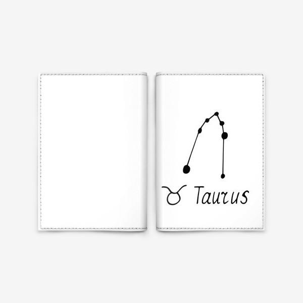 Обложка для паспорта «телец. созвездие. знак зодиака. подарок тельцам»