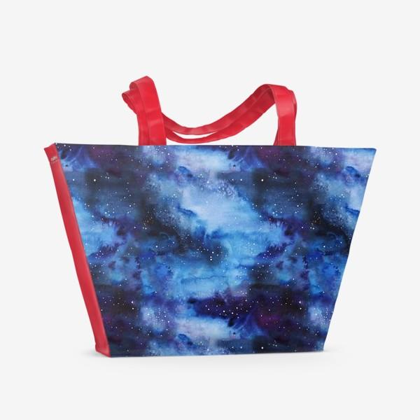 Пляжная сумка «Акварель.  Паттерн.  Космос »