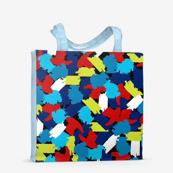 Сумка-шоппер «цветные мазки краски, заплатки»