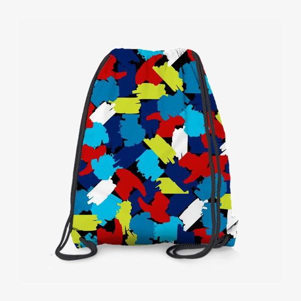 Рюкзак «цветные мазки краски, заплатки»