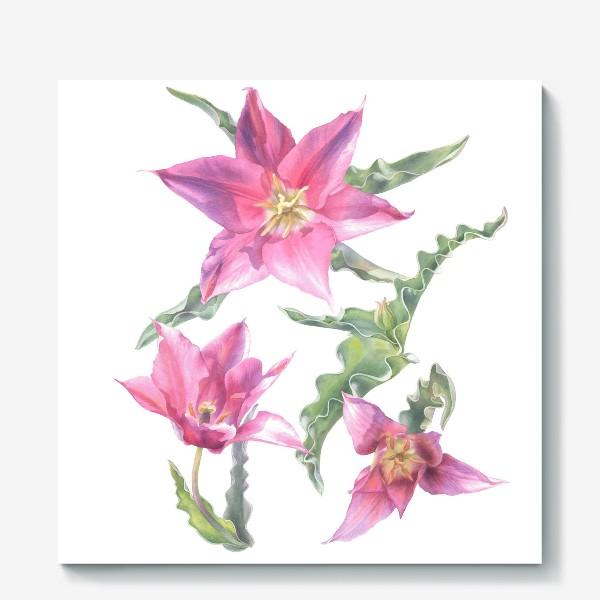 Холст «Сиреневые тюльпаны »
