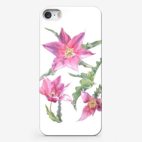 Чехол iPhone «Сиреневые тюльпаны »
