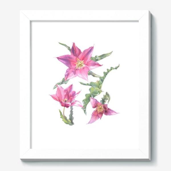 Картина «Сиреневые тюльпаны »