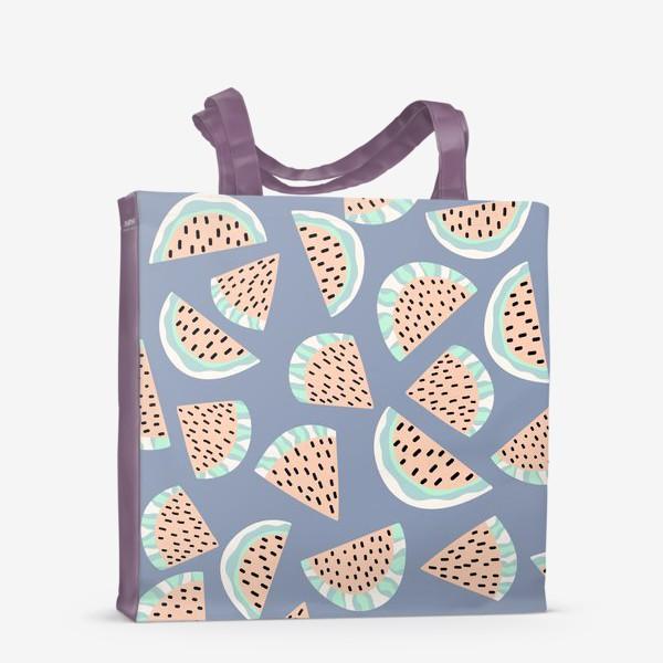Сумка-шоппер «Арбузные ломтики в бохо стиле»