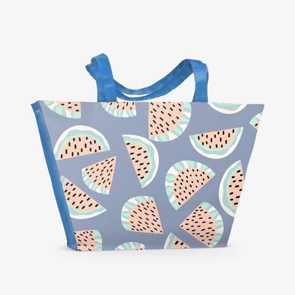 Пляжная сумка «Арбузные ломтики в бохо стиле»