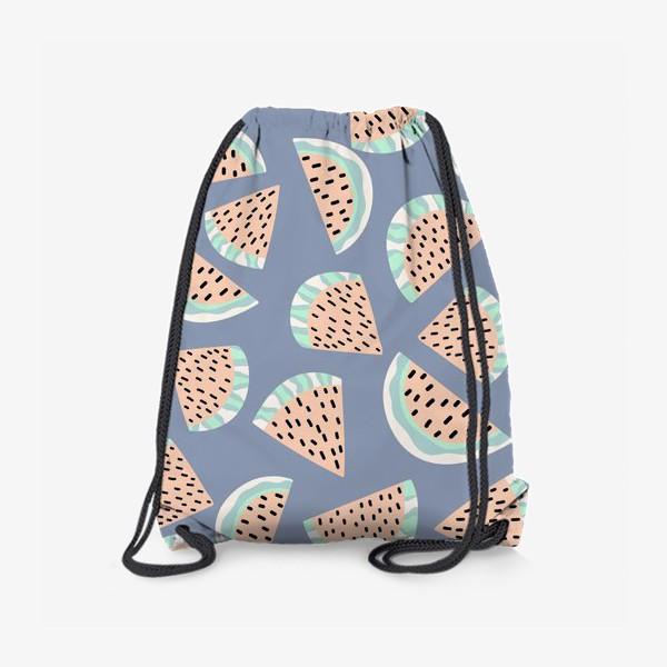 Рюкзак «Арбузные ломтики в бохо стиле»