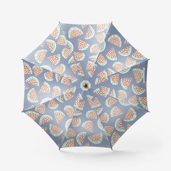 Зонт «Арбузные ломтики в бохо стиле»