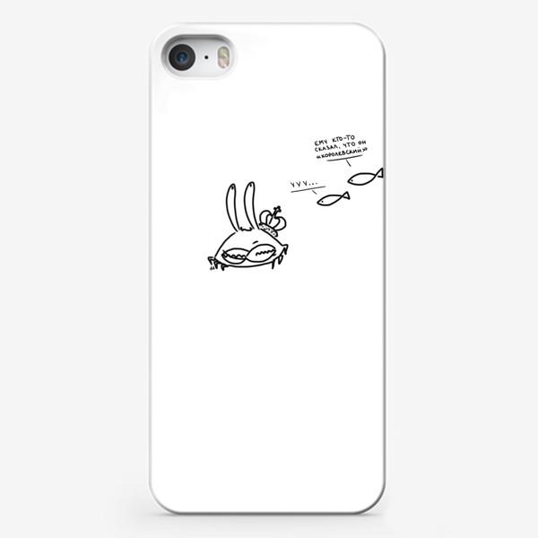 Чехол iPhone «Королевский краб. Морской юмор»