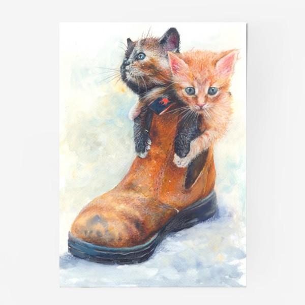 Постер «Котята, кот в сапоге »