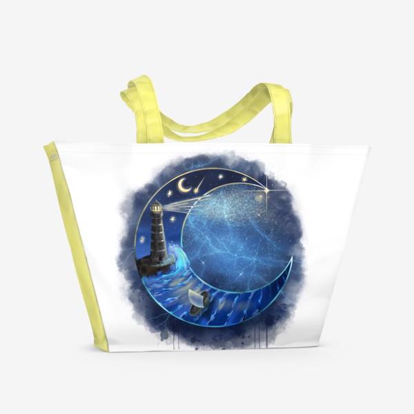 Пляжная сумка «Космический месяц »