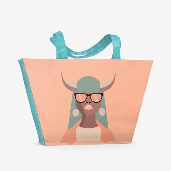 Пляжная сумка «Знак зодиака. Телец»