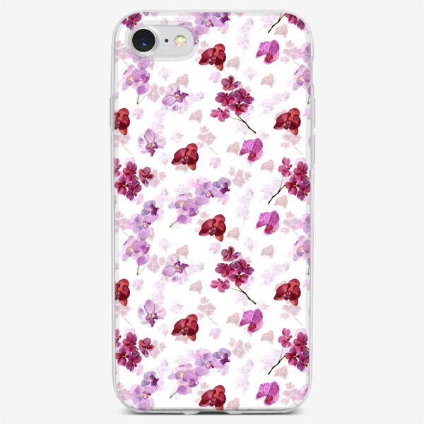 Чехол iPhone «акварельная орхидея»