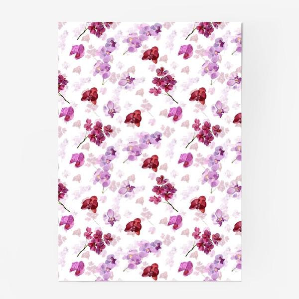 Постер «акварельная орхидея»