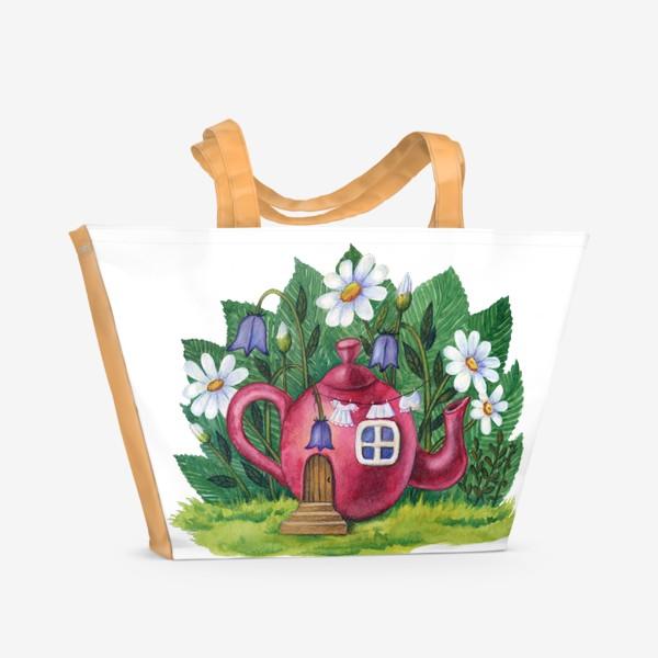 Пляжная сумка «Маленький домик»