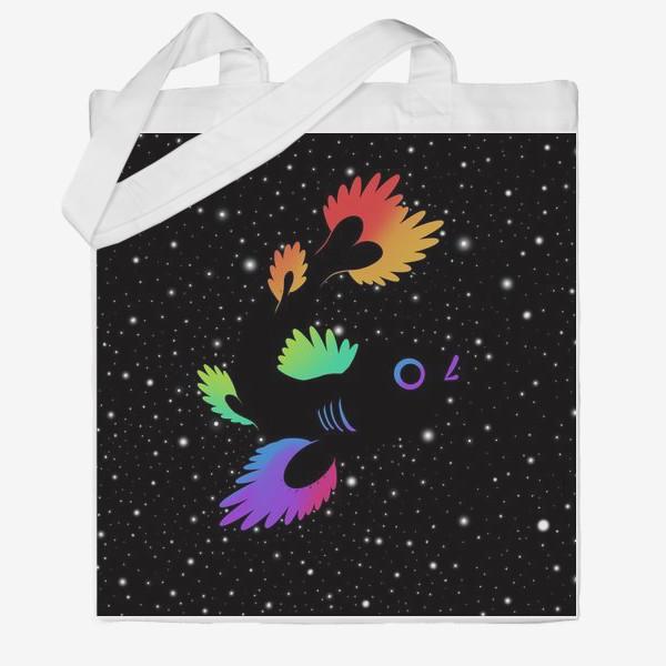 Сумка хб «Рыба с звёздами»