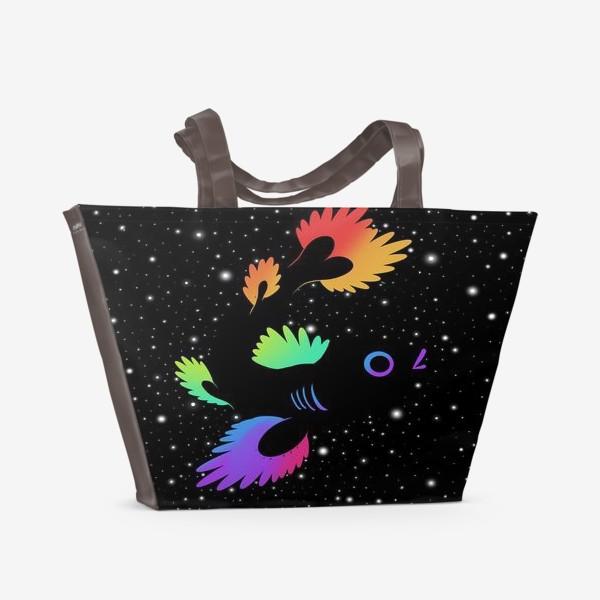 Пляжная сумка «Рыба с звёздами»