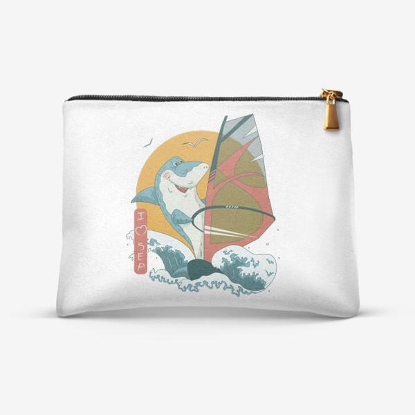 Косметичка «Акула, море и виндсерфинг»