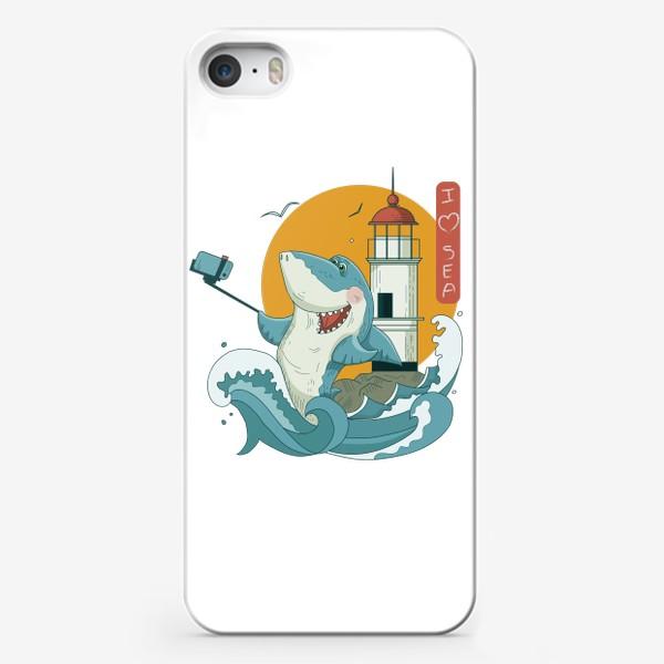Чехол iPhone «Акула, Море. Маяк. Владивосток»