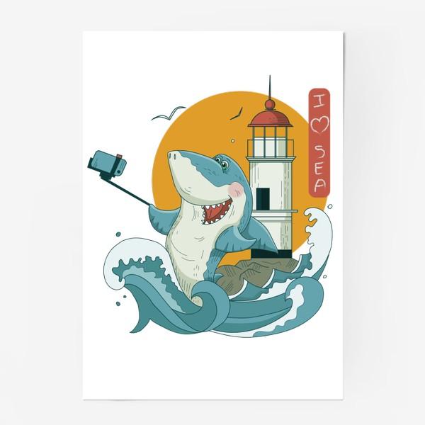 Постер «Акула, Море. Маяк. Владивосток»
