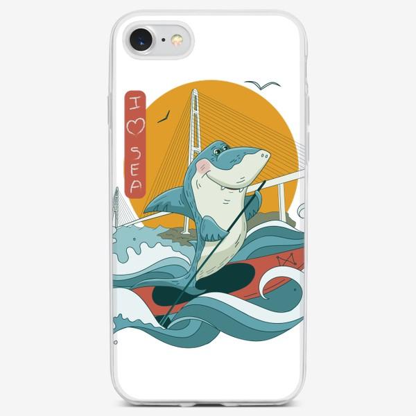 Чехол iPhone «Акула. Сапсерфинг. Владивосток»