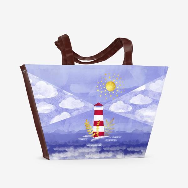 Пляжная сумка «Маяк. Море. Солнце»