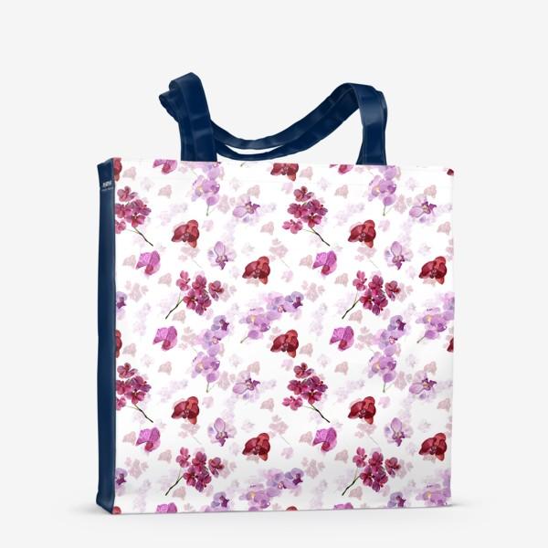 Сумка-шоппер «акварельная орхидея»