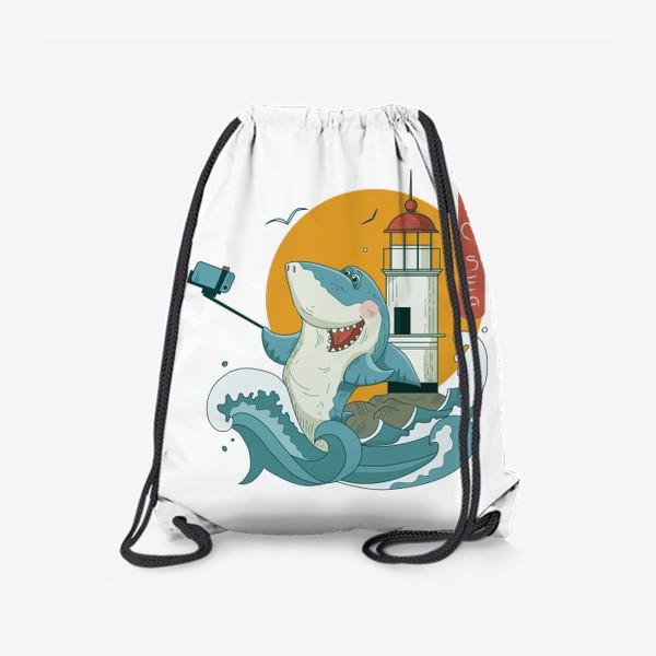 Рюкзак «Акула, Море. Маяк. Владивосток»