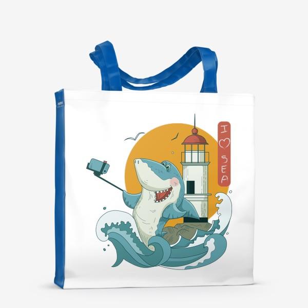 Сумка-шоппер «Акула, Море. Маяк. Владивосток»